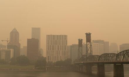 오레곤, 목요일 까지 대기오염 지속